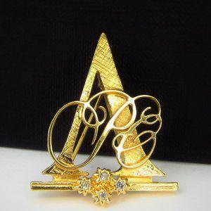 1992 Avon Honor Society Rhinestone Brooch